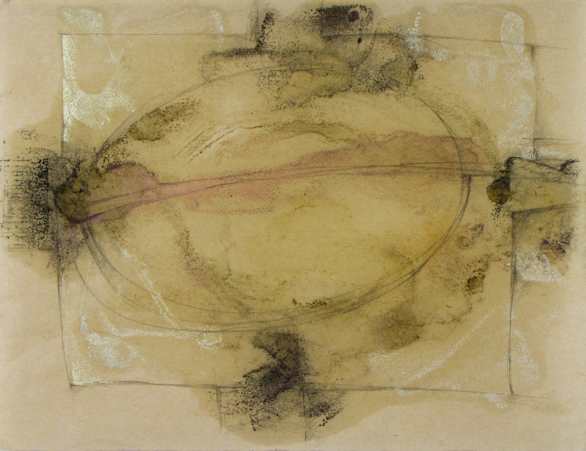 Four Directions, an encaustic monotype